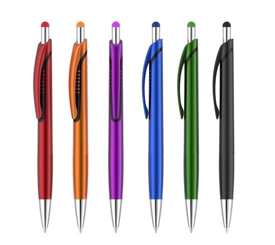 Bolígrafo con puntero Tokyo Color morado y plateado
