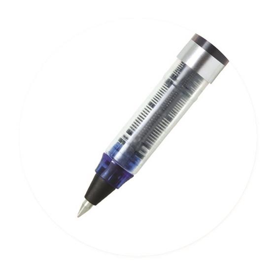 Roller de tinta líquida Glider Color negro y plateado