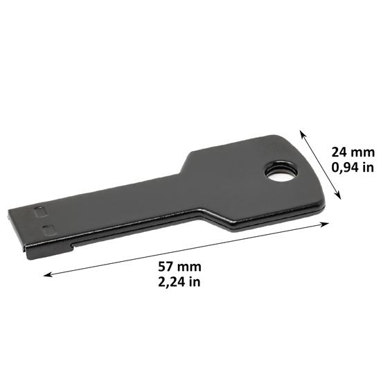 Memoria USB Key Color negro capacidad 16 GB