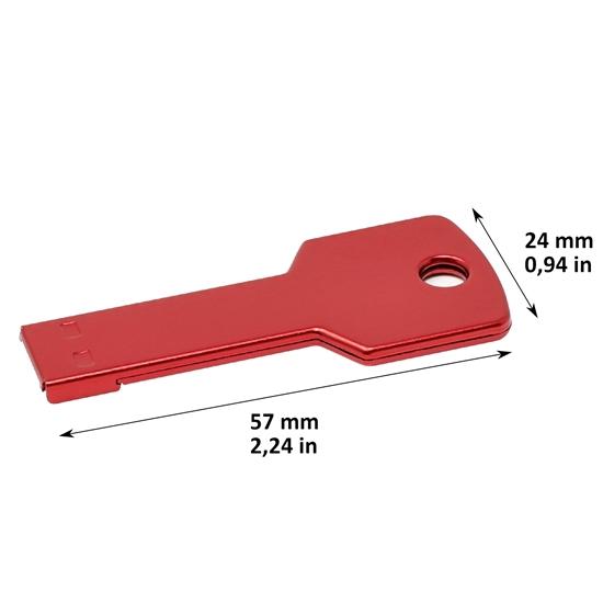 Memoria USB Key Color rojo capacidad 16 GB
