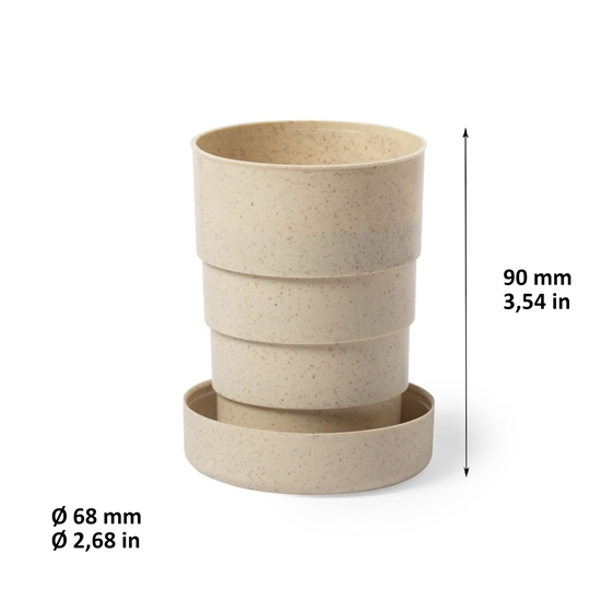 Vaso plegable Tatium Color natural