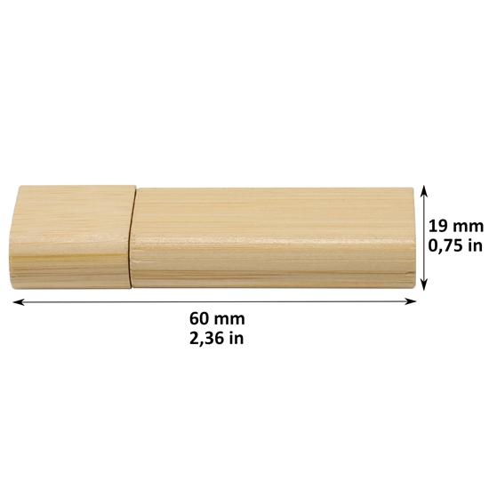 Memoria USB en bambú Bumuk Color natural capacidad 16 GB
